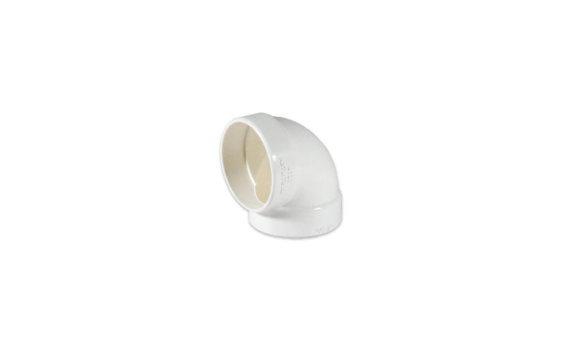 Bogenförmiger Rohrbogen 90° kurz (annähernd)