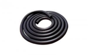 Flexible hose for automatic dustpans and central unit