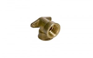 BRASS ELBOW WITH HOLDER (GI X GI)