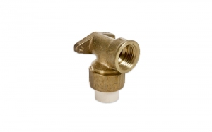 BRASS ELBOW WITH PLASTIC AND HOLDER (GI/FT)