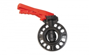 PVC BUTTERFLY VALVE FOR FLANGES