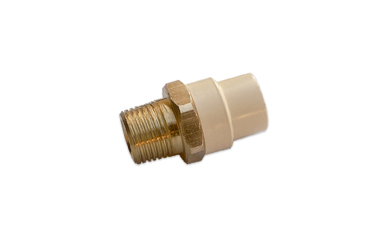 COUPLING WITH BRASS THREAD (GI X MT)